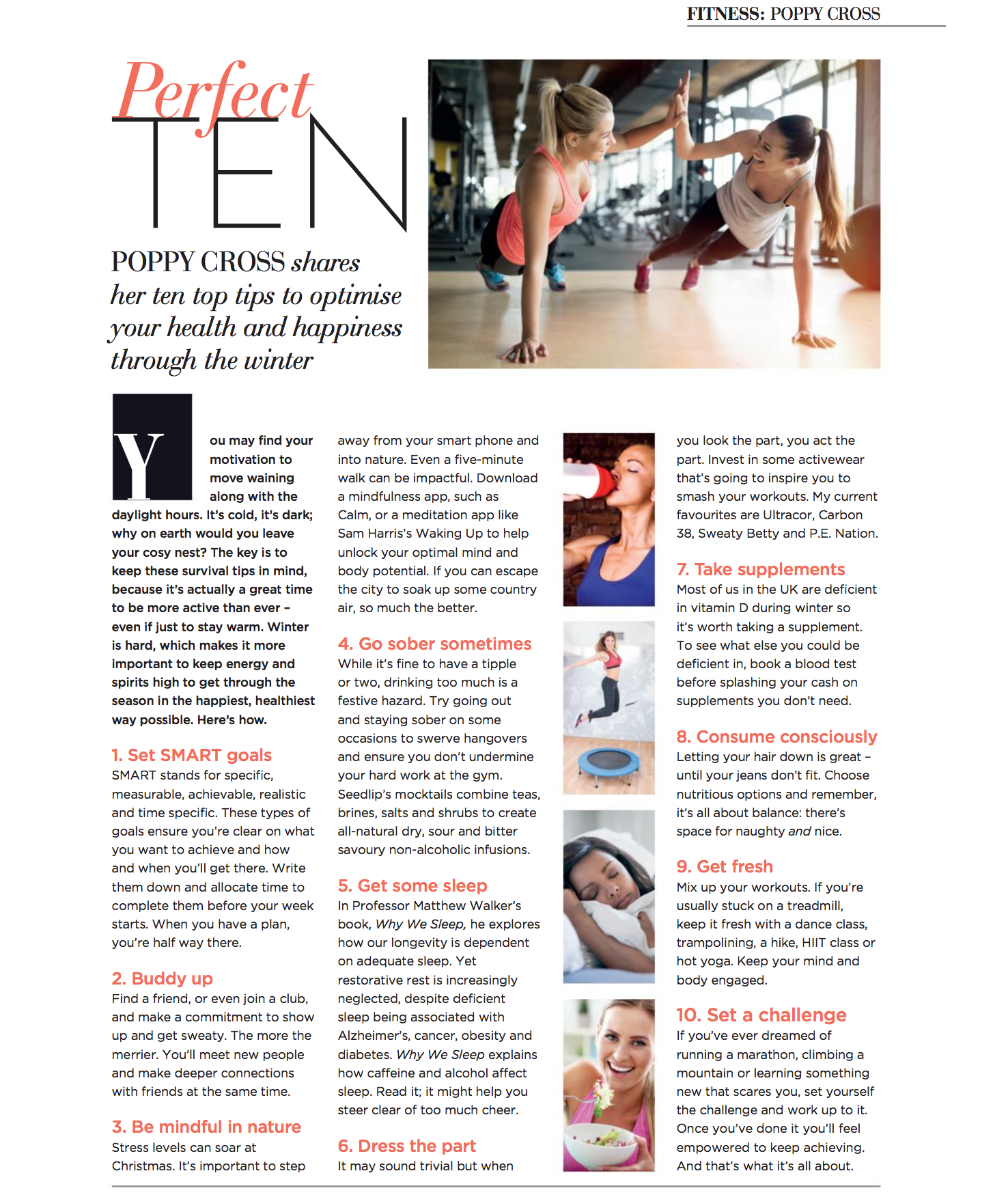 My Top Ten tips for Modern Woman to optimise your game through